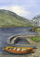 S.M. Currie - Contemporary Watercolour, Doo Lough Co. Mayo Ireland