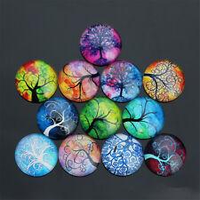 20PCS Mixed Photo Handmade Tree of Life Glass Dome Cabochon Cameo Cabs 10-25mm