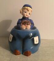 Lefton Dutch Boy Cookie Jar Cutie, Canadian Import Sticker, Good Condition