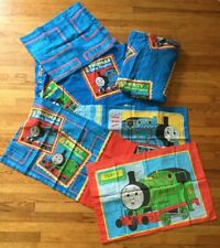 Thomas The Train Twin Sheet Set Flat & Fitted 3 Pillowcases Dan River Valance