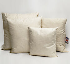 Pack of 2 100% Natural Duck Feather Cushion Pad Filler Insert Hand Made in UK