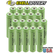 20x Exell 1.2V NIMH AAA 600mAh Rechargeable Button Top Batteries FAST USA SHIP