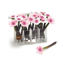 XONEX PINK OR WHITE CHERRY BLOSSOM Single Pen Flower Black Ballpoint Pen #10705