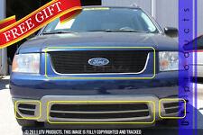 GTG 2005 - 2007 Ford Freestyle 7PC Gloss Black Overlay Combo Billet Grille Kit