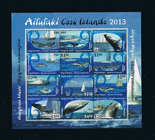 Aitutaki Definitive Stamp Sheetlet – Whales / Dolphins / Nautical Ships