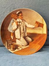 "Norman Rockwell's ""The Painter"" Knowles Limited Edition 8-1/2"" Plate"