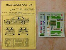 "BMW M3 RALLYE MONTE CARLO 1994 XAVIER DUCASTEL ""PHILIBERT"" DECALS JIELGE 1/43"