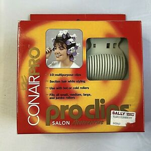 Conair Pro Clips Replacement Roller Clips Fits All Size Curlers Pack of 10 NEW