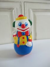 ☻ Jouet Ancien Culbuto Clown Made In France Educo Vintage 20 Cm