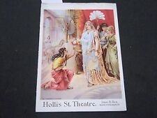 1892 HOLLIS ST. THEATRE PROGRAM - JULIA MARLOWE - NICE ADS - II 3051