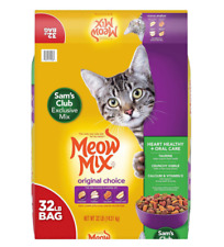 New listing Meow Mix Original Choice Dry Cat Food, Heart Health & Oral Care Formula (32 lbs.