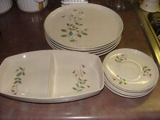 Franciscan Winsome 5 Dinner Plates, 2 Saucers, 2 Bread Plates, 1 Divided Veggie