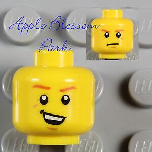 NEW Lego Police Agent MINIFIG HEAD Male Boy w/Max Burns Smile -Movie/Castle/City