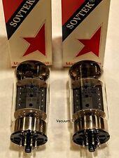SOVTEK Factory Platinum Matched PAIR TWO  6550WE 6550 tubes 24 Hr Burn-in