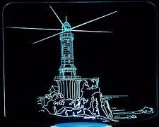 3-D Optical Illusion Large Lighthouse LED Desk, Table, Night Lamp