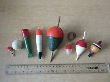 9 x Vintage Pike Fishing Floats & Bungs