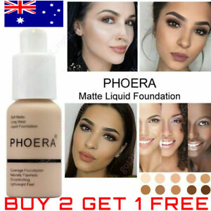 PHOERA® Foundation Concealer Full Coverage Makeup Matte Brighten Long Lasting