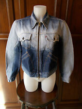 Levi's red tab CROPPED DENIM RARE women's Jacket Giacca Donna Tg L jeans LEVIS