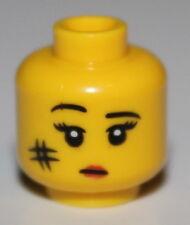 LeGo Yellow Head Female Black Eyebrows Eyelashes White Pupils Red Lips Smudge