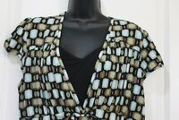 Cocomo Womens Knit Top Large Green Brown Black