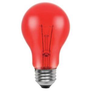 Westinghouse 0344600,25 Watt, 120 Volt Trans Red Incandescent A19 Light Bulb 6pk