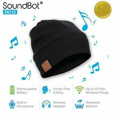 SoundBot Sb210 Bluetooth 4.1 Wireless Musical Knit Smart Beanie Headset - Black