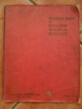 Antique Original 1930 Touring Maps Of England Wales & Scotland By HOVIS Ltd