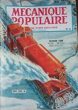 REVUE MECANIQUE POPULAIRE N° 021 CERVEAUX AUTOMOBILE USA CARTOGRAPHIE 1948