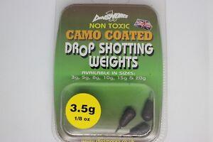 Drop Shot Weights, Non toxic, dull camo finish, various sizes.
