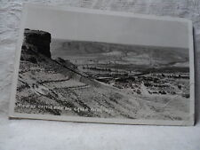 GREEN RIVER WY Wyoming Town & Castle Rock View 1929 RPPC Postcard