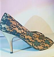 Women Shoes Emilio Luca x Love Lace Stiletto Heel Peep Toe Size Uk Size 8 Ladies