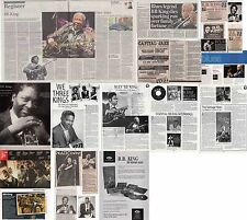 BB KING : CUTTINGS COLLECTION -adverts etc-