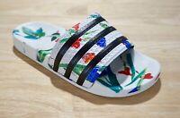 NIB Adidas Women's Adilette Slides, Flowery/Cloud White/Core Black; Choose Size!