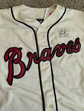 ATLANTA BRAVES DAVID JUSTICE AUTOGRAPHED SIGNED MAJESTIC JERSEY BECKETT COA