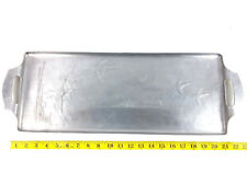 Hammered Aluminum 1930's Wendell August Forge Flying Geese Serving Tray