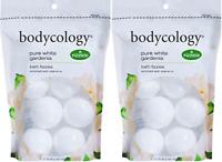 Bodycology Pure White Gardenia Bath Soak Fizzies Bombs 8 - 2.1 Oz Balls( 2 Pack)