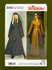 Maxi Trench Coat Costume Sewing Pattern~w/wo Hood (Sizes 14-22) Simplicity 8482