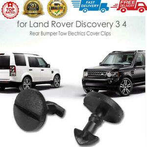 2pcs Rear Bumper Tow Electrics Cover Clips for Land Rover Discovery 3 4