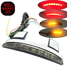 Black Chopped Fender Edge 8-LED Turn Signal Rear Taillight for Harley XL883 1200