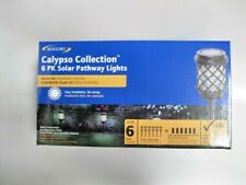 Malibu Calypso Collection 6pk Gray Solar Powered Integrated LED Pathway Light