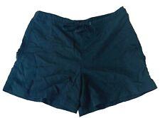 LL Bean Womens Workout Running Shorts Nylon Black Elastic Waist Size XS