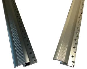 Carpet To Tile / Wood or Laminate - Silver or Grey - Threshold Metal Z Bar Trim