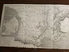 Map- Original 1811 map of Southern France in Ancient times