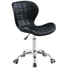 Cushioned Computer Desk Office Chair Chrome Lift Swivel Small Adjustable
