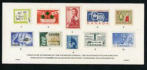 Weeda Canada VF Condition 1960 Souvenir Card #2, with 'OVER/VERSO' CV $20