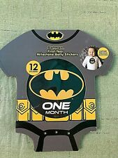 Batman First Year Monthly 0-12 Months Milestone Belly Stickers - New