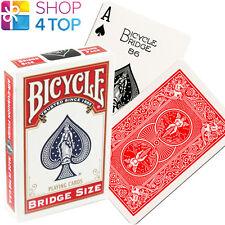 BICYCLE RIDER BACK BRIDGE GRÖßE ROT SPIELKARTEN MAGIE TRICKS USPCC NEU