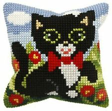"Kitten With A Bow Cushion Cover 10"" x 10"" Cross Stitch Kit"