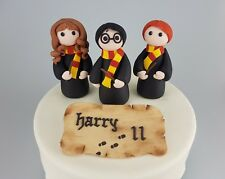 Harry Potter Cake Topper 3D Edible Hermione Ron Marauder's Map Age Name  Magic