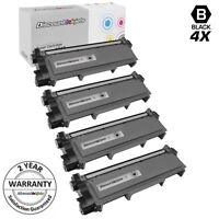 4PK High Yield BLACK Toner for Brother TN660 TN-660 HL-L2340DW HL-L2360 HL-L2380